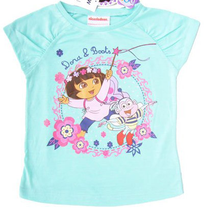 Dora-baby-girl-short-sleeve-t-shirt-in-blue-name-brand-kids-summer-shirt-children-wear