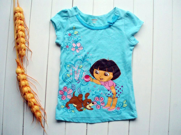 Dora-baby-girl-t-shirt-name-brand-kids-shirt-baby-summer-wear-kids-wear-children-wear