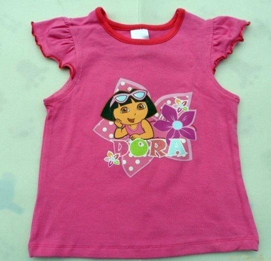 Dora-baby-girl-t-shirt-name-brand-kids-shirt-summer-children-wear-2-3years-