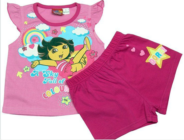Dora-baby-girl-t-shirt-shorts-children-leisure-wear-name-brand-baby-wear-kids-wear-children (1)