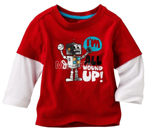 Free-shipping-best-price-Boys-Red-style-t-shirts-baby-clothes-long-sleeve-t-shirt-kids