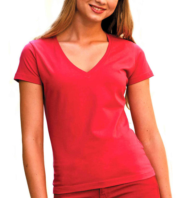 V-neck ladies T-shirt